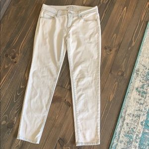 Free People White Acid Washed Ankle Jeans sz 26